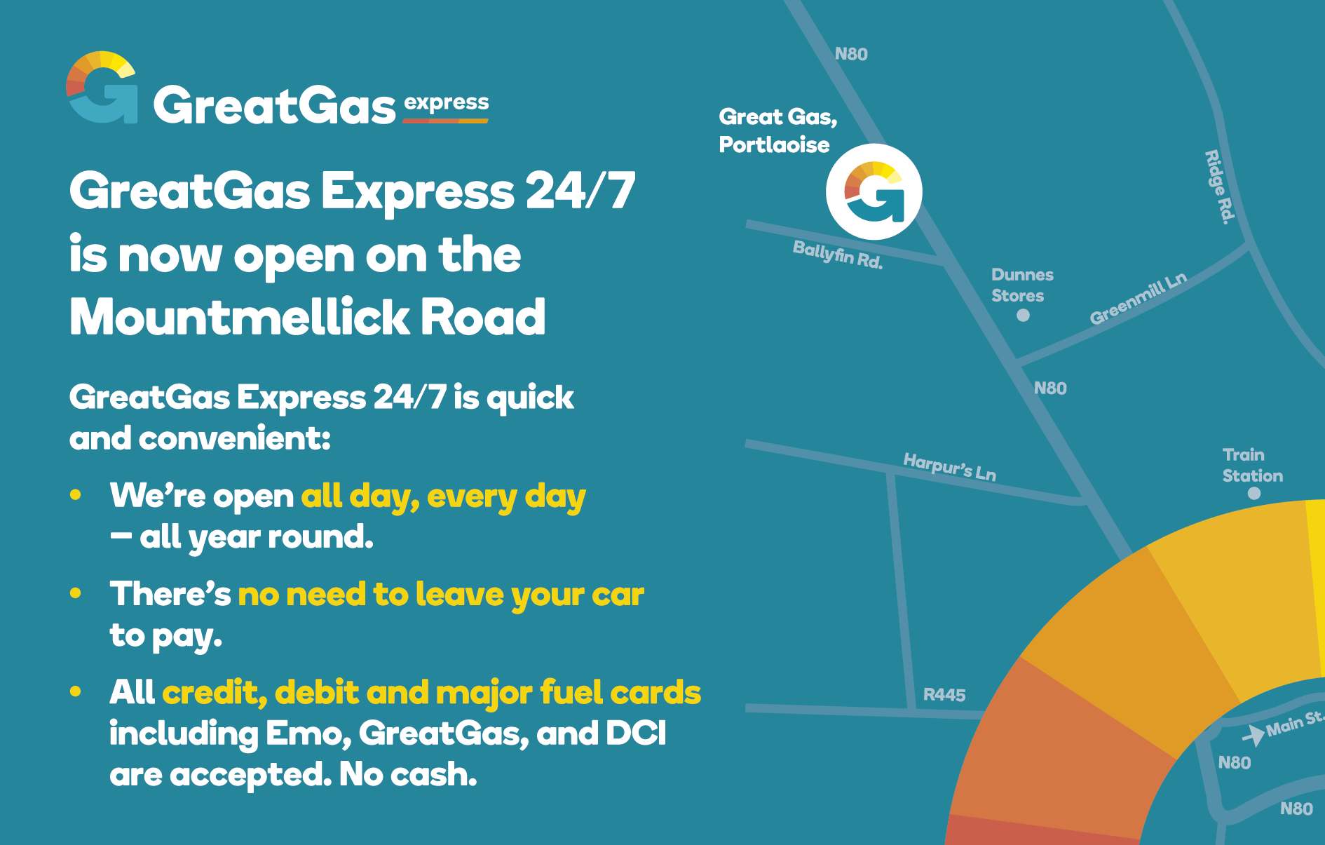 GreatGas express 24/7 Portlaoise Unmanned 24 hour Diesel and Petrol fuel site